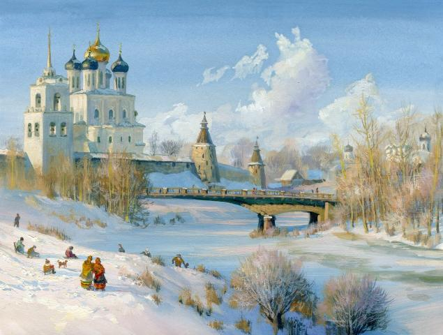 Russian soul: Pictures of Russian peasant life by Vladimir Zhdanov - 02