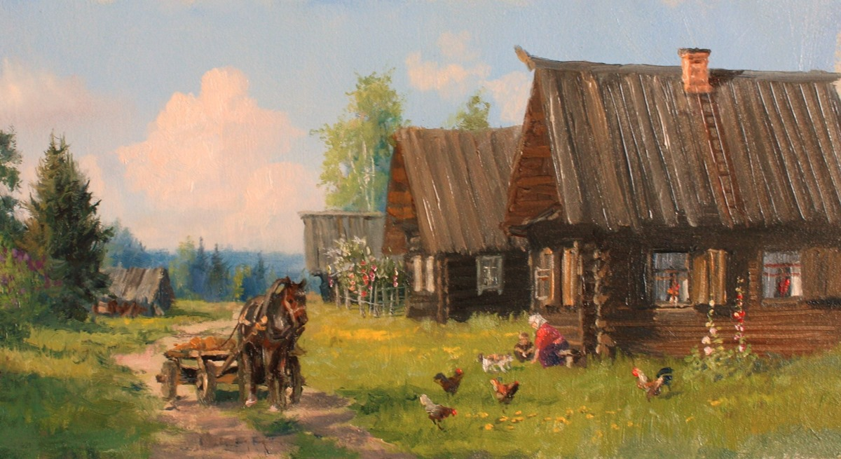 Russian soul: Pictures of Russian peasant life by Vladimir Zhdanov - 31