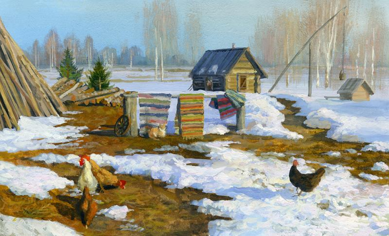 Russian soul: Pictures of Russian peasant life by Vladimir Zhdanov - 63