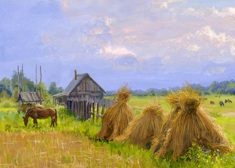 Russian soul: Pictures of Russian peasant life by Vladimir Zhdanov - 69