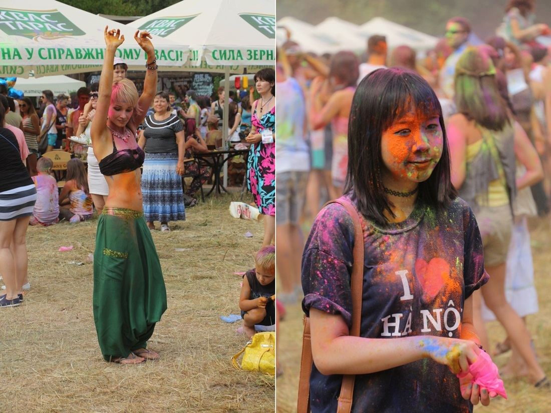 Bright summer: The festival of colours Holi in the capital of Ukraine - 23