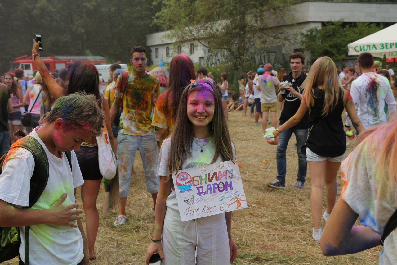 Bright summer: The festival of colours Holi in the capital of Ukraine - 54