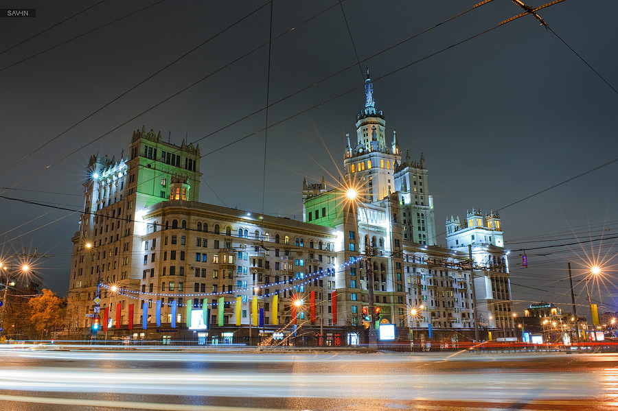 Night Moscow: Brilliant lights of the winter capital city of Russia - 02