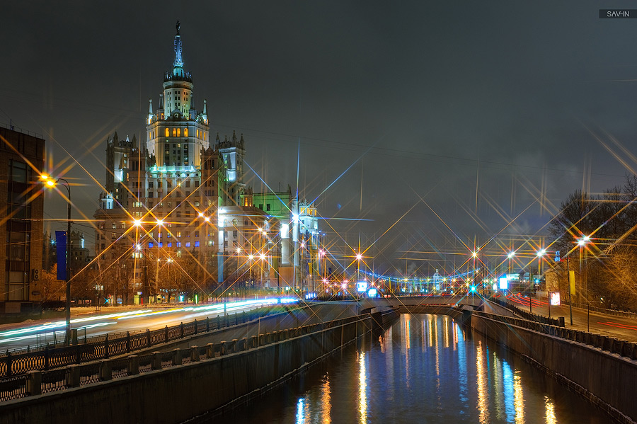 Night Moscow: Brilliant lights of the winter capital city of Russia - 03