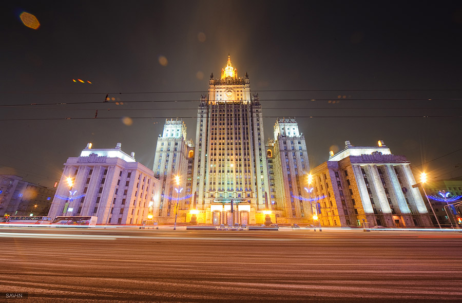 Night Moscow: Brilliant lights of the winter capital city of Russia - 33