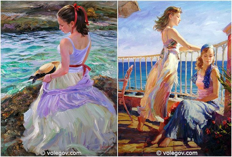 Sensitive images: Women by a Russian painter Vladimir Volegov - 10