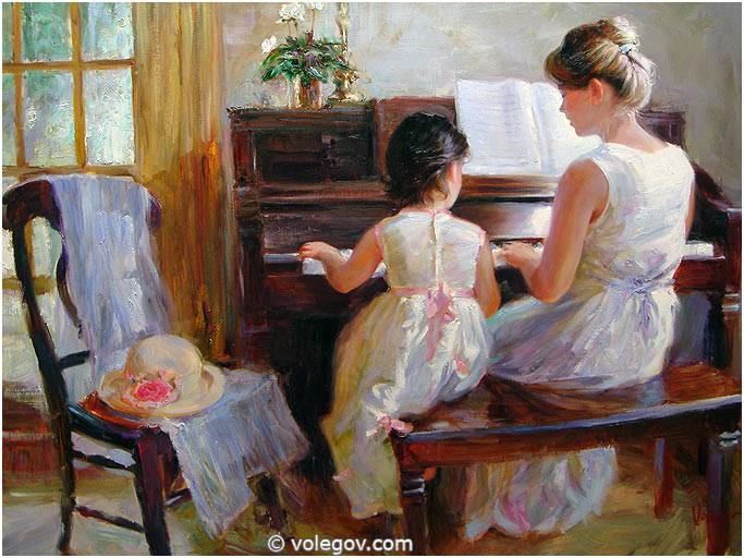 Sensitive images: Women by a Russian painter Vladimir Volegov - 11