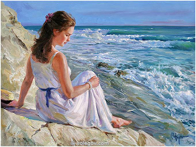 Sensitive images: Women by a Russian painter Vladimir Volegov - 17