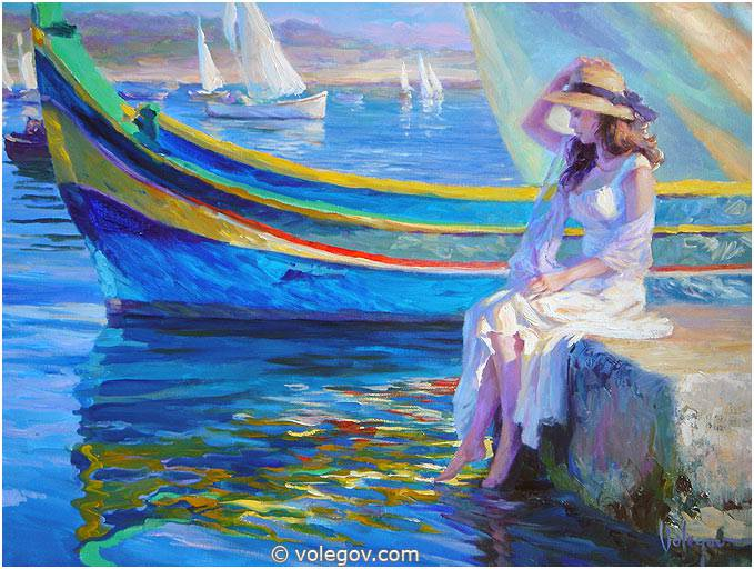 Sensitive images: Women by a Russian painter Vladimir Volegov - 19