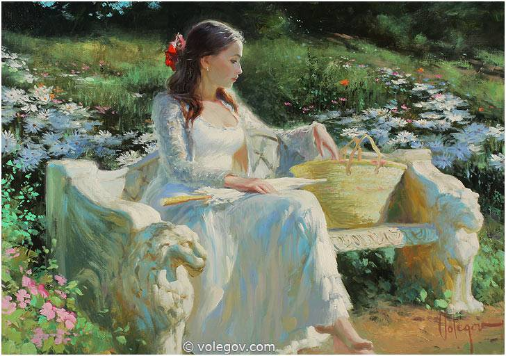Sensitive images: Women by a Russian painter Vladimir Volegov - 21