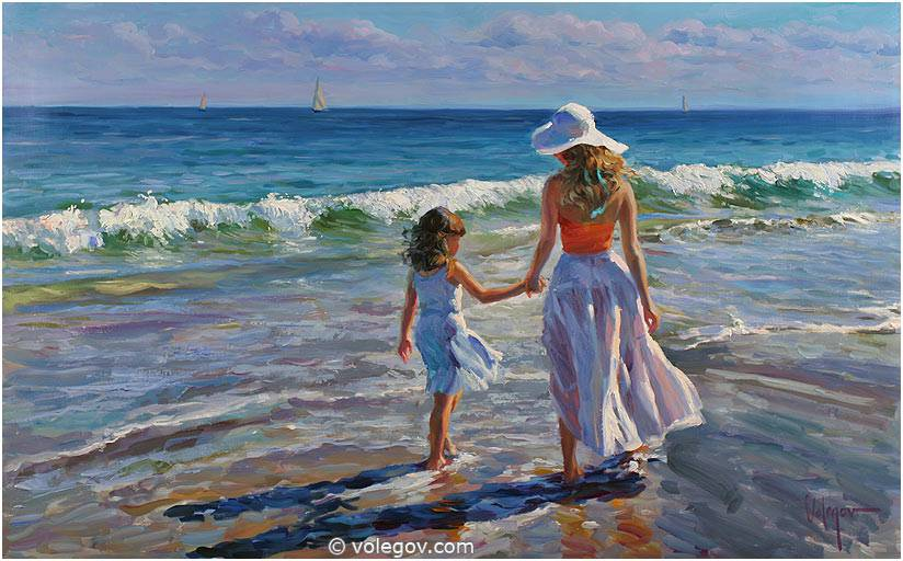 Sensitive images: Women by a Russian painter Vladimir Volegov - 22