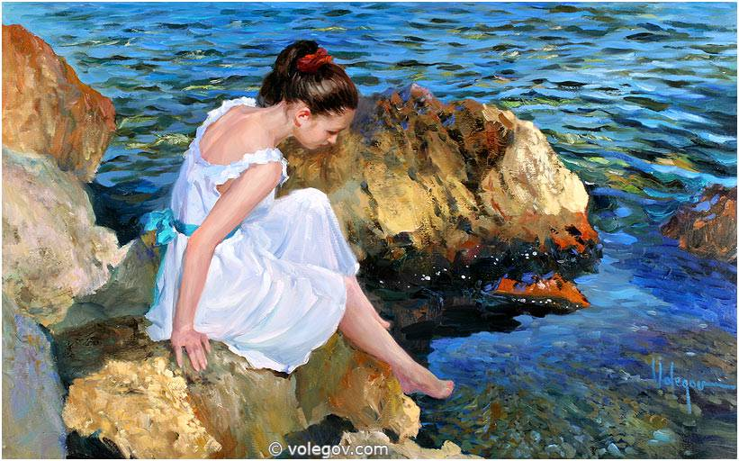 Sensitive images: Women by a Russian painter Vladimir Volegov - 28