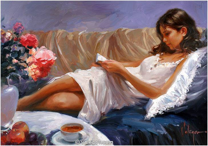 Sensitive images: Women by a Russian painter Vladimir Volegov - 29