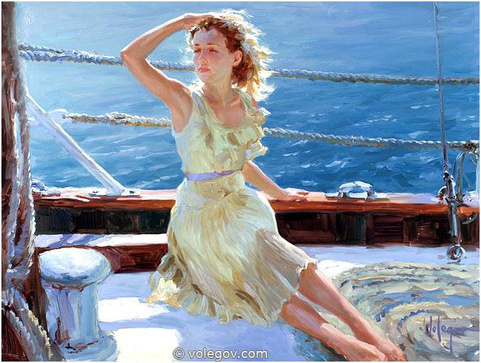 Sensitive images: Women by a Russian painter Vladimir Volegov - 30