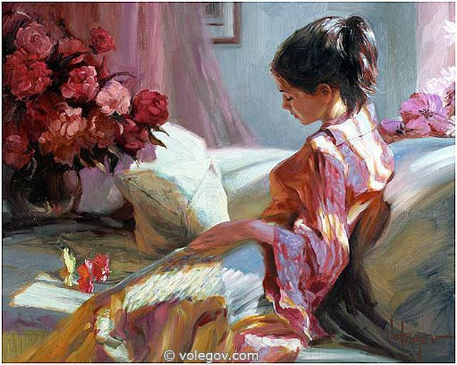 Sensitive images: Women by a Russian painter Vladimir Volegov - 32