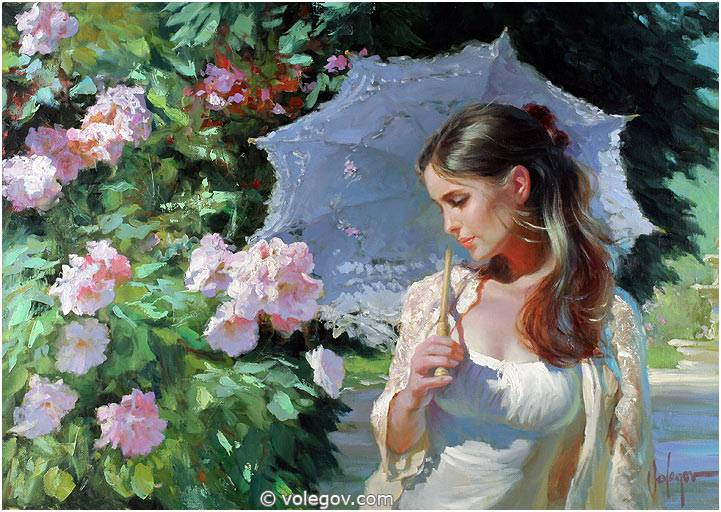 Sensitive images: Women by a Russian painter Vladimir Volegov - 36
