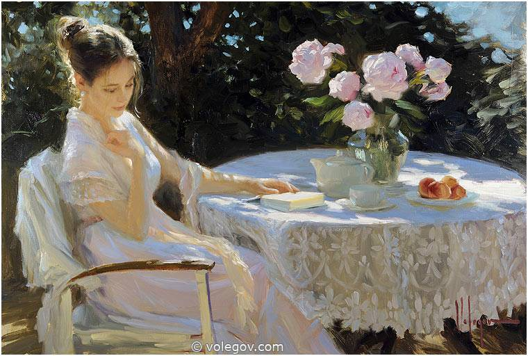 Sensitive images: Women by a Russian painter Vladimir Volegov - 45