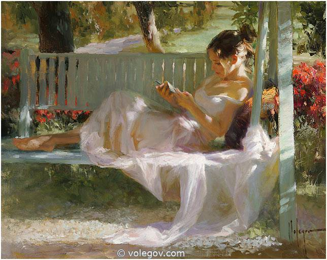 Sensitive images: Women by a Russian painter Vladimir Volegov - 48