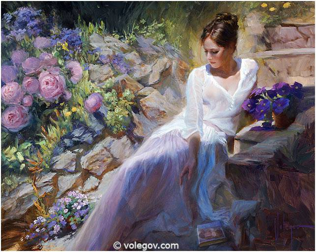 Sensitive images: Women by a Russian painter Vladimir Volegov - 49