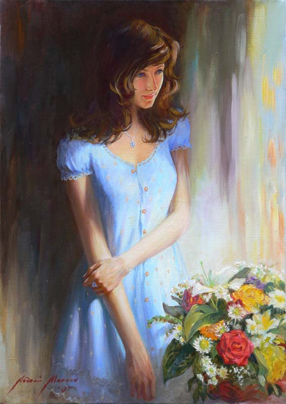 Women's portraits: Pictures by a Russian painter Andrei Markin - 01