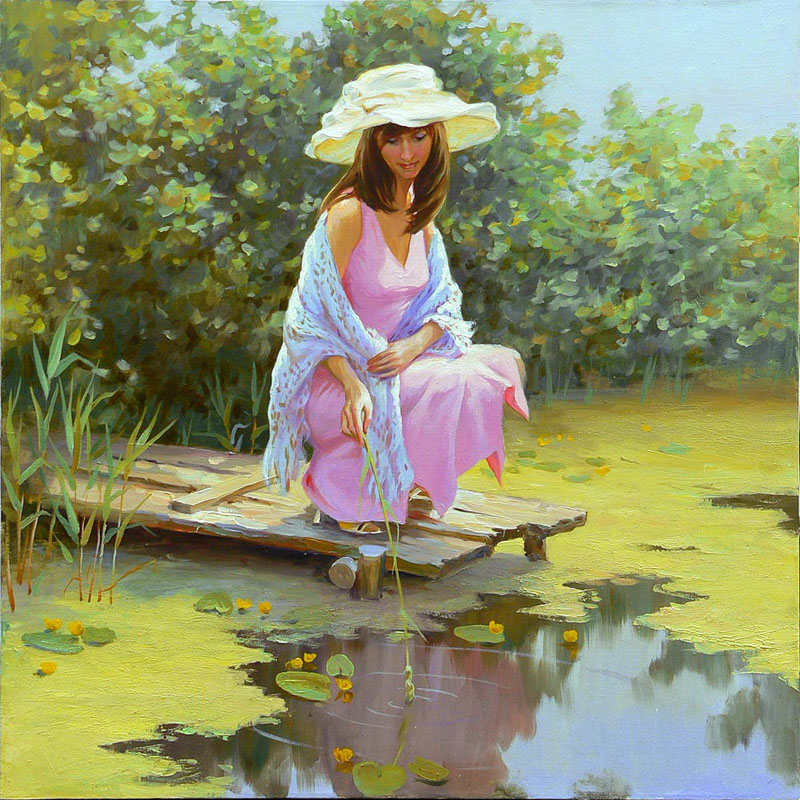 Women's portraits: Pictures by a Russian painter Andrei Markin - 15