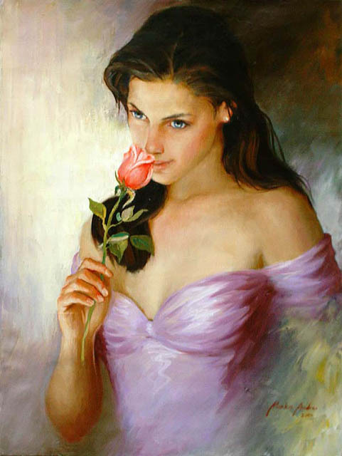 Women's portraits: Pictures by a Russian painter Andrei Markin - 24