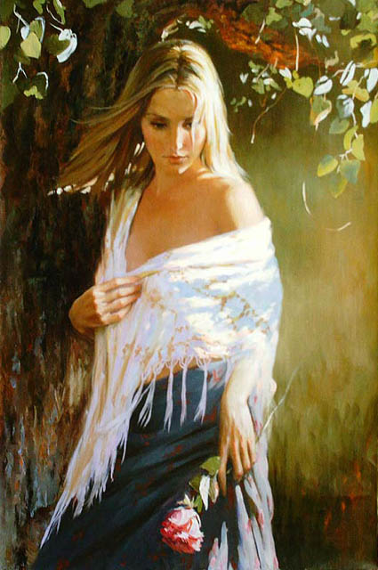 Women's portraits: Pictures by a Russian painter Andrei Markin - 27