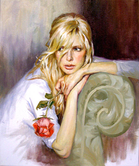Women's portraits: Pictures by a Russian painter Andrei Markin - 34