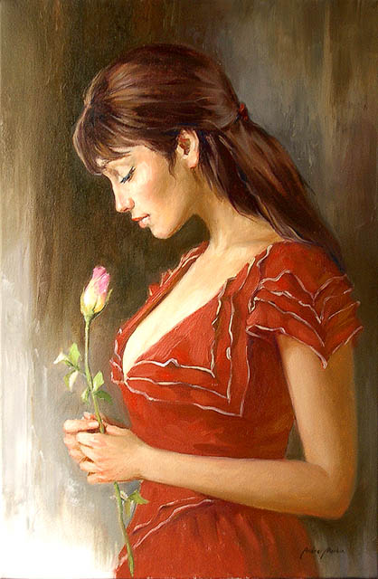 Women's portraits: Pictures by a Russian painter Andrei Markin - 35