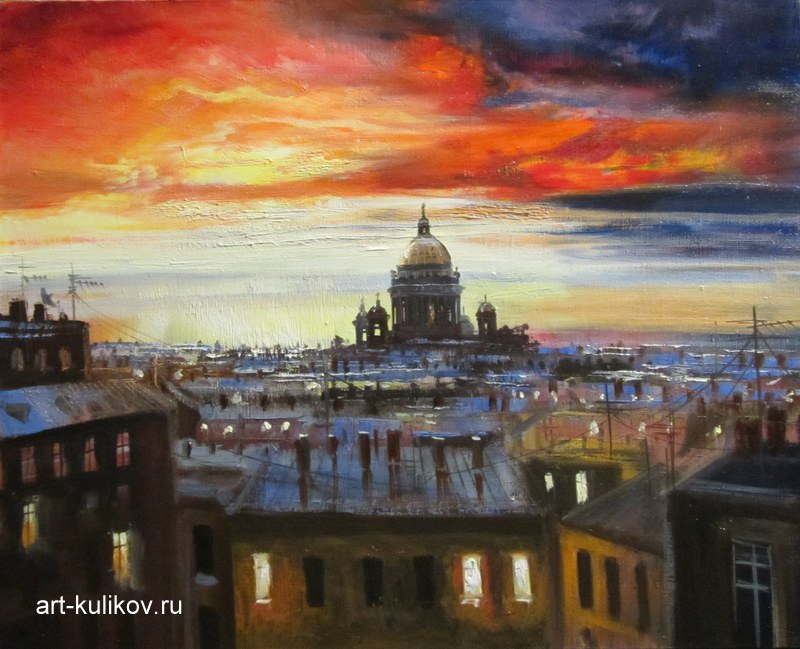 Pictures of glorious Saint-Petersburg by an artist Vladimir Kulikov - 13