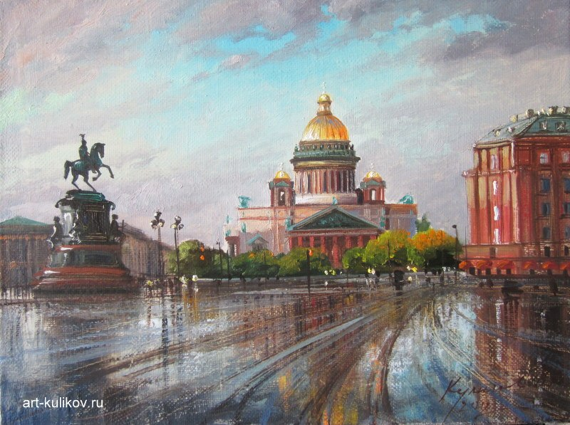 Pictures of glorious Saint-Petersburg by an artist Vladimir Kulikov - 16