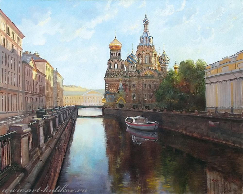 Pictures of glorious Saint-Petersburg by an artist Vladimir Kulikov - 02