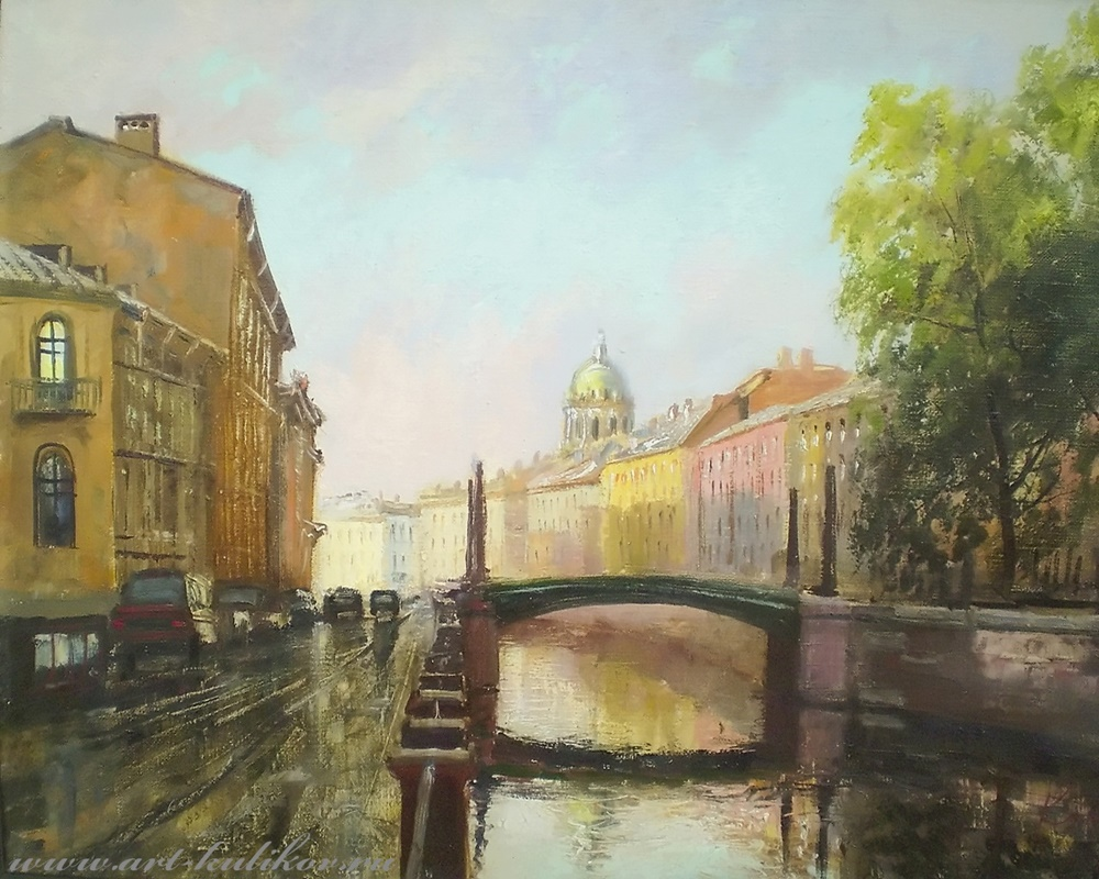 Pictures of glorious Saint-Petersburg by an artist Vladimir Kulikov - 09