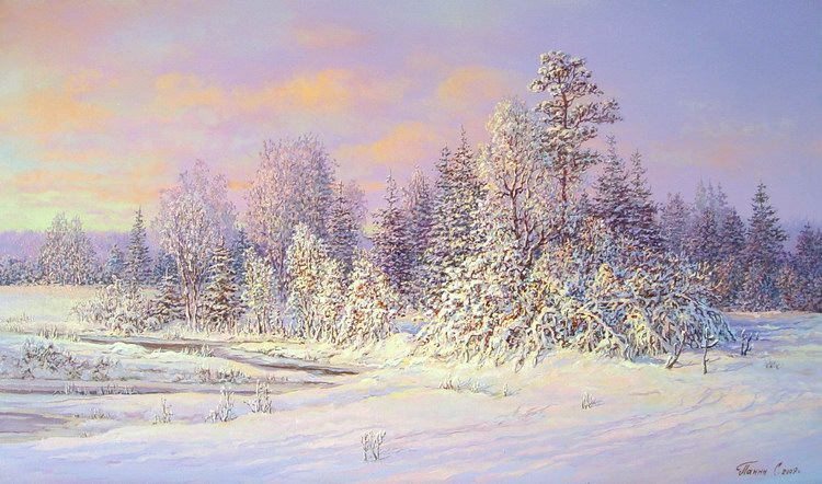 Russian expanses: Beauteous painting by the artist Sergey Panin - 14