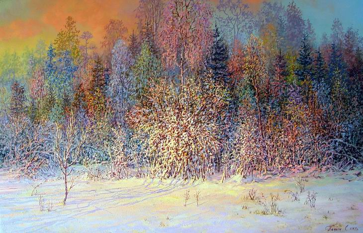 Russian expanses: Beauteous painting by the artist Sergey Panin - 16