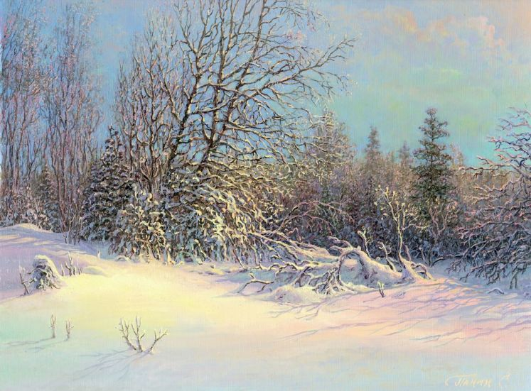 Russian expanses: Beauteous painting by the artist Sergey Panin - 21
