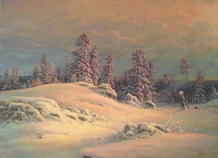 Russian expanses: Beauteous painting by the artist Sergey Panin - 23