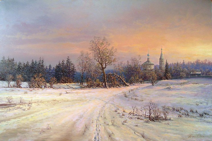 Russian expanses: Beauteous painting by the artist Sergey Panin - 30