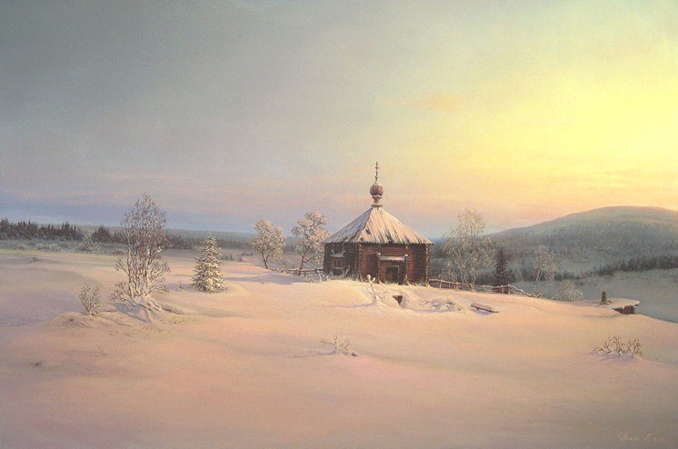 Russian expanses: Beauteous painting by the artist Sergey Panin - 31