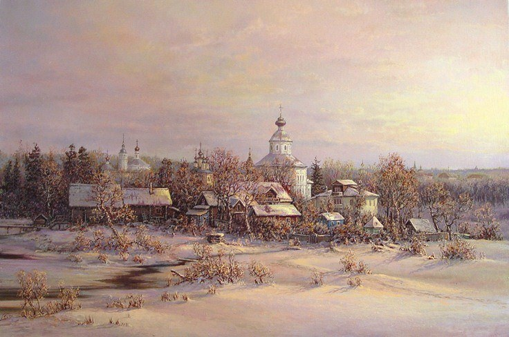 Russian expanses: Beauteous painting by the artist Sergey Panin - 32