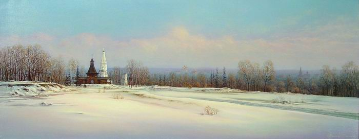 Russian expanses: Beauteous painting by the artist Sergey Panin - 05