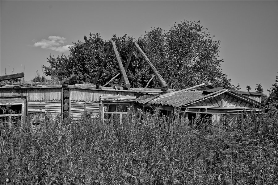 Photo project Forgotten Russia: Forlorn and dying villages - Pozhar - 16